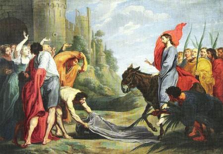 Entrada triunfal de Jesús en Jerusalén