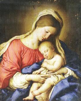Sassoferrato. Virgen con_el niño dormido
