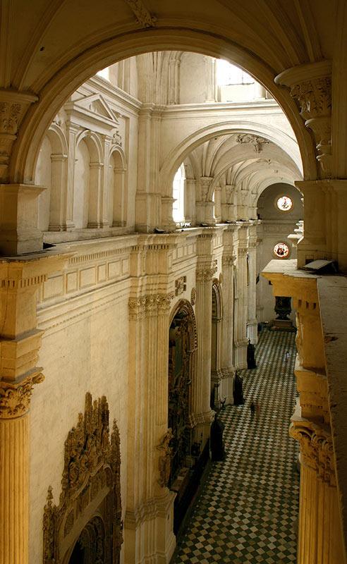 muro perimetral sur desde la capilla real hasta la antigua contadura