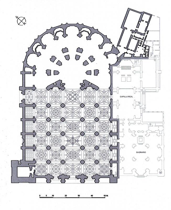 PLANTA CATEDRALICIA Dependencias construidas en el siglo XVIII