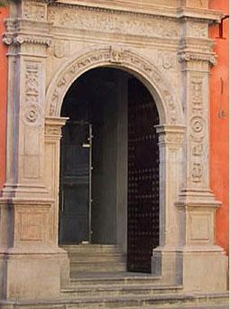 ANTIGUA UNIVERSIDAD DE GRANADA: PORTADA PLATERESCA