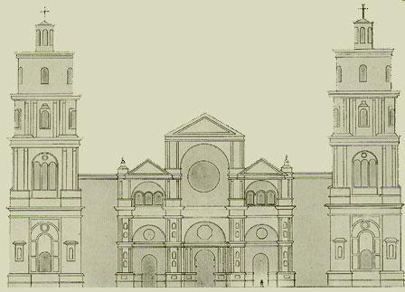 ALZADO DE LA FACHADA PRINCIPAL, SIGLO XVI