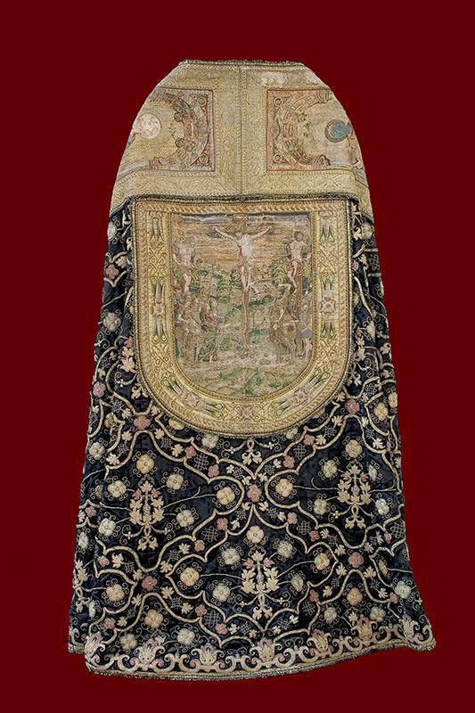 SIGLO XVI: TERNO NEGRO Capa pluvial: espalda (¿Juan de Villalón?)