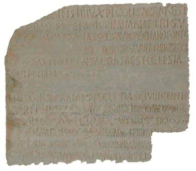 LÁPIDA DE CONSAGRACIÓN DE TRES TEMPLOS GRANADINOS (603-610)