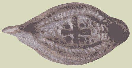 LUCERNA PALEOCRISTIANA HISPANORROMANA (IV-V)