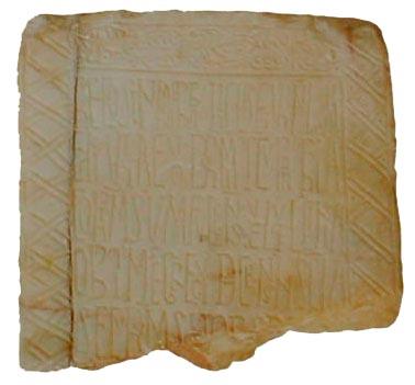 SIGLO X-XI: EPITAFIO DE RECOSINDO, ABAD MOZÁRABE Inscripción funeraria