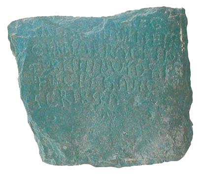 INSCRIPCIÓN DEL DIÁCONO FLORESINDO (852-889)