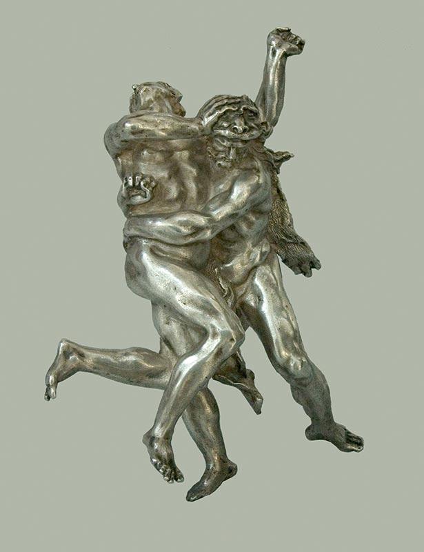 SIGLO XVII: LUCHA ENTRE HERACLES Y ANTEO Artífice anónimo