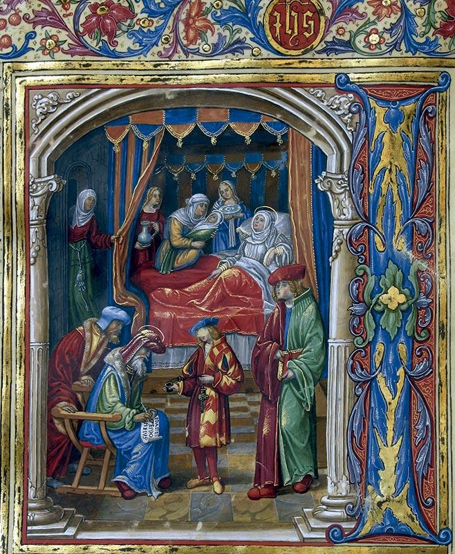 NACIMIENTO DEL BAUTISTA Juan de Cáceres (fl. 1504-1524)