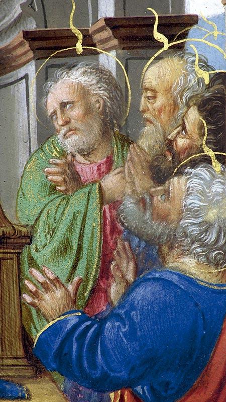 SOLEMNIDAD DE PENTECOSTÉS, DETALLE Juan Ramírez (primera mitad del XVI