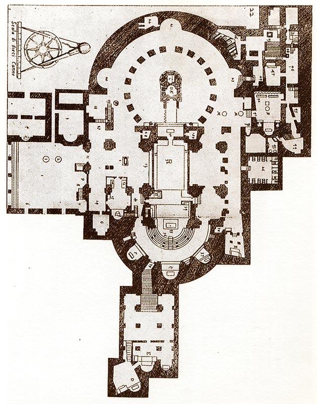 TEMPLO DEL SANTO SEPULCRO Planta de Bernardo de Amico (hacia 1596)