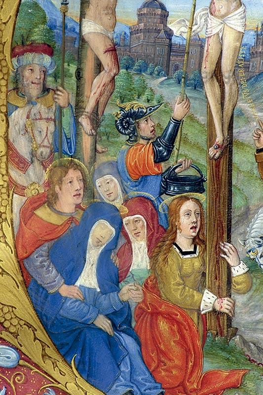 CALVARIO, DETALLE: MUJERES AL PIE DE LA CRUZ Maestro de 1519