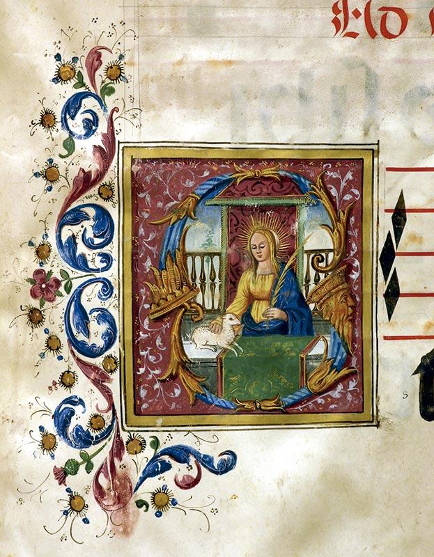 SANTA INÉS, VIRGEN Y MÁRTIR: CAPITULAR S Juan Soriano (fl. 1532)