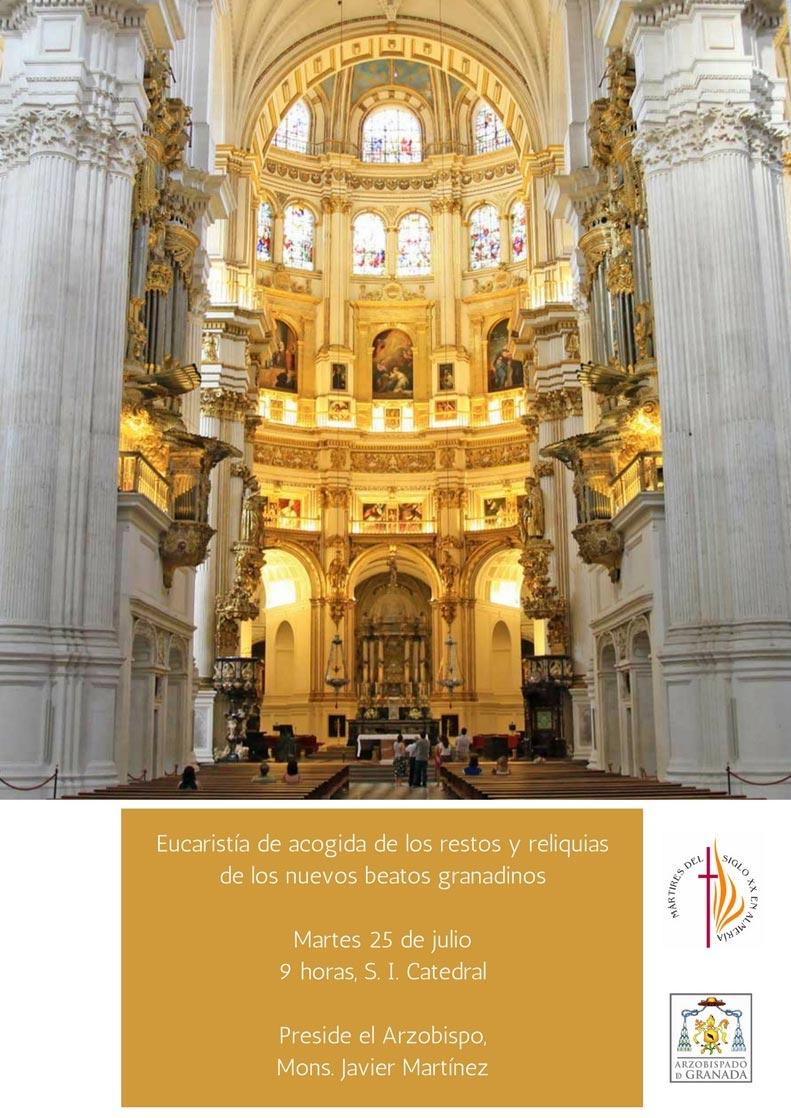 Eucaristía de acogida de los restos y reliquias de los nuevos beatos granadinos