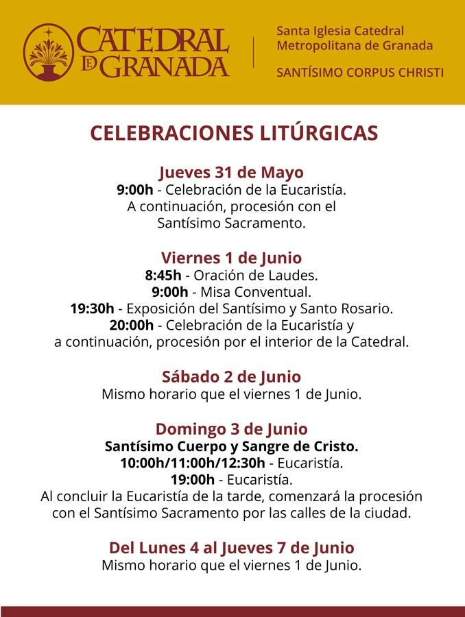 Santísimo Corpus Christi – Celebraciones litúrgicas